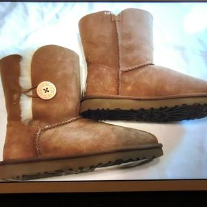 UGG Australia Blayre II Leather Chestnut Boots New